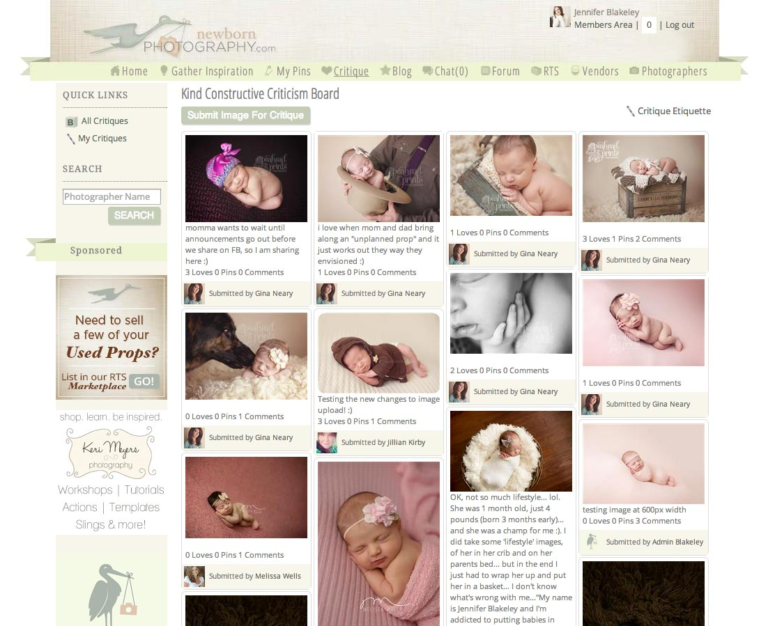 newborn photography critique board
