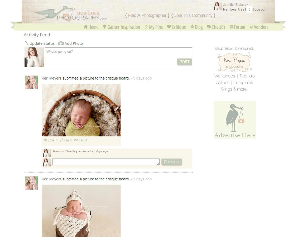 newborn photography activity feed