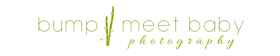 Bump Meet Baby Photography Business Logo